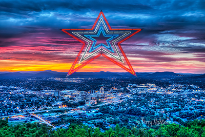 Roanoke Sunset Collage Five By Terry Aldhizer