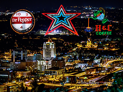 Roanoke Night Collage Two By Terry Aldhizerr
