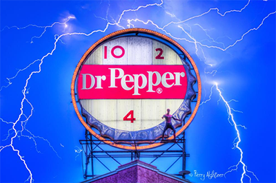 Dr. Pepper Lightning Poster by Terry Aldhizer