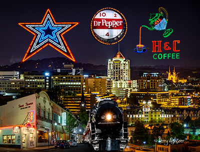 Roanoke Night Collage Four By Terry Aldhizer