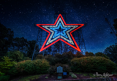 Roanoke Star On Stars Collage By Terry Aldhizer